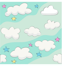 cute baby cloud pattern vector image