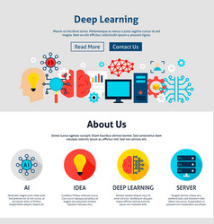 deep learning website design vector image