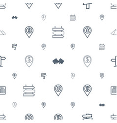 Destination icons pattern seamless white vector