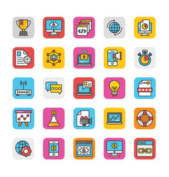 digital and internet marketing icons set 2 vector image