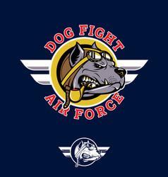 dog fifght insignia pilotbull wwii nose art vector image