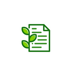 eco document logo icon design vector image
