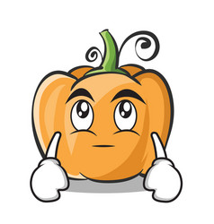 eye roll pumpkin character cartoon style vector image