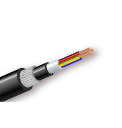 fiber optic tight buffered cable structure vector image