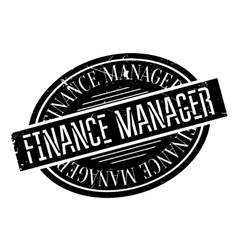 Finance Manager rubber stamp vector image