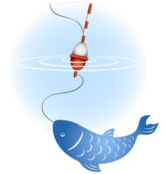 Fishing image vector