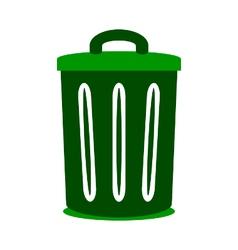 Garbage symbol icon on white vector