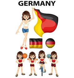 Germany representative and many sports vector image