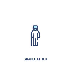 Grandfather concept 2 colored icon simple line vector