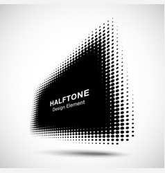 halftone distort rectangle in perspective circle vector image
