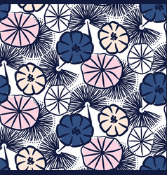 handdrawn flower seamless pattern vector image