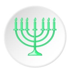 Hanukkah icon flat style vector image