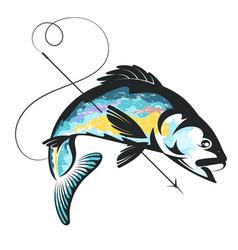 harpoon fishing vector image