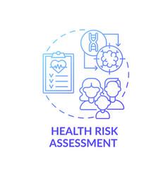 Health risk assessment blue gradient concept icon vector