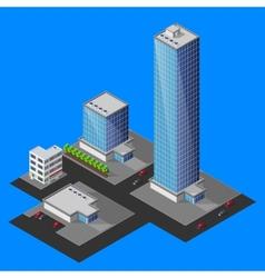 isometric cityscape vector image