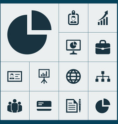 Job icons set collection of group suitcase vector