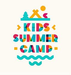 Kids summer camp banner vector
