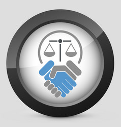 legal agreement vector image