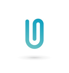 Letter u clip logo icon design template elements vector