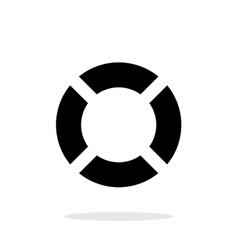 Lifebuoy icon on white background vector image