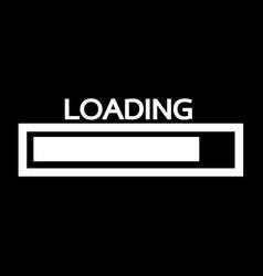 loading bar icon design vector image