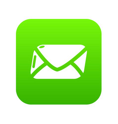 mail icon green vector image