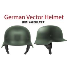 Military german helmet ww2 vector
