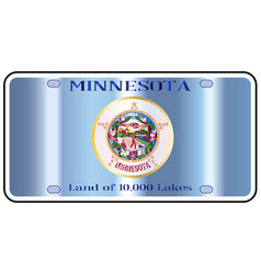 Minnesota license plate flag vector