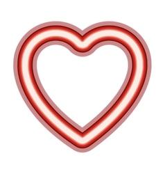 Neon heart icon vector