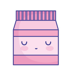 package shopping market cartoon food cute flat vector image