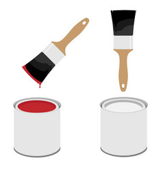 paint brush and can vector image