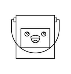 Paint pot kawaii character vector