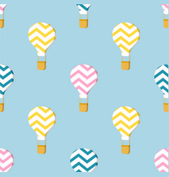 Pattern with air balloons vector