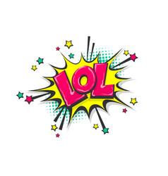 pop art comic book text speech bubble vector image