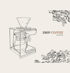 pour over coffeemaker vector image