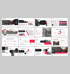 presentation template red and black elements for vector image