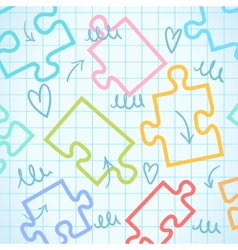 puzzle background puzzle vector image