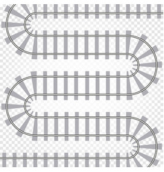 rail railroad track railway vector image