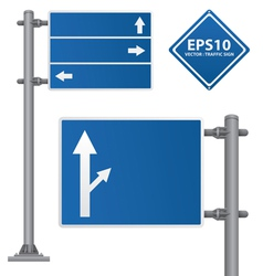 Road Signs blue color vector