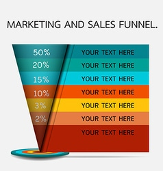 Sales and marketing funnel infographic vector