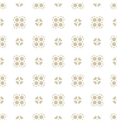 seamless abstract geometric floral pattern vector image