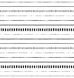 seamless hand drawn pattern with lines vector image