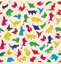 Seamless pattern of origami vector