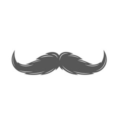 Silhouette of a mustache isolated on white vector
