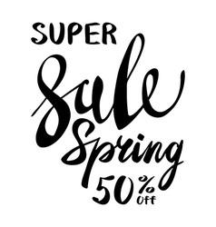 Spring Sale Lettering Typography Design Spring vector image