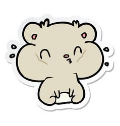 Sticker of a cartoon hamster vector