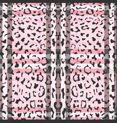 Striped leopard fashion seamless pattern vector