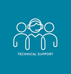 Technical support line concept call center icon vector