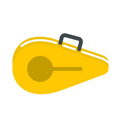 Tennis bag icon flat style vector
