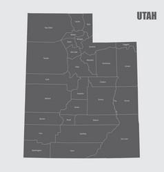 Utah counties map vector
